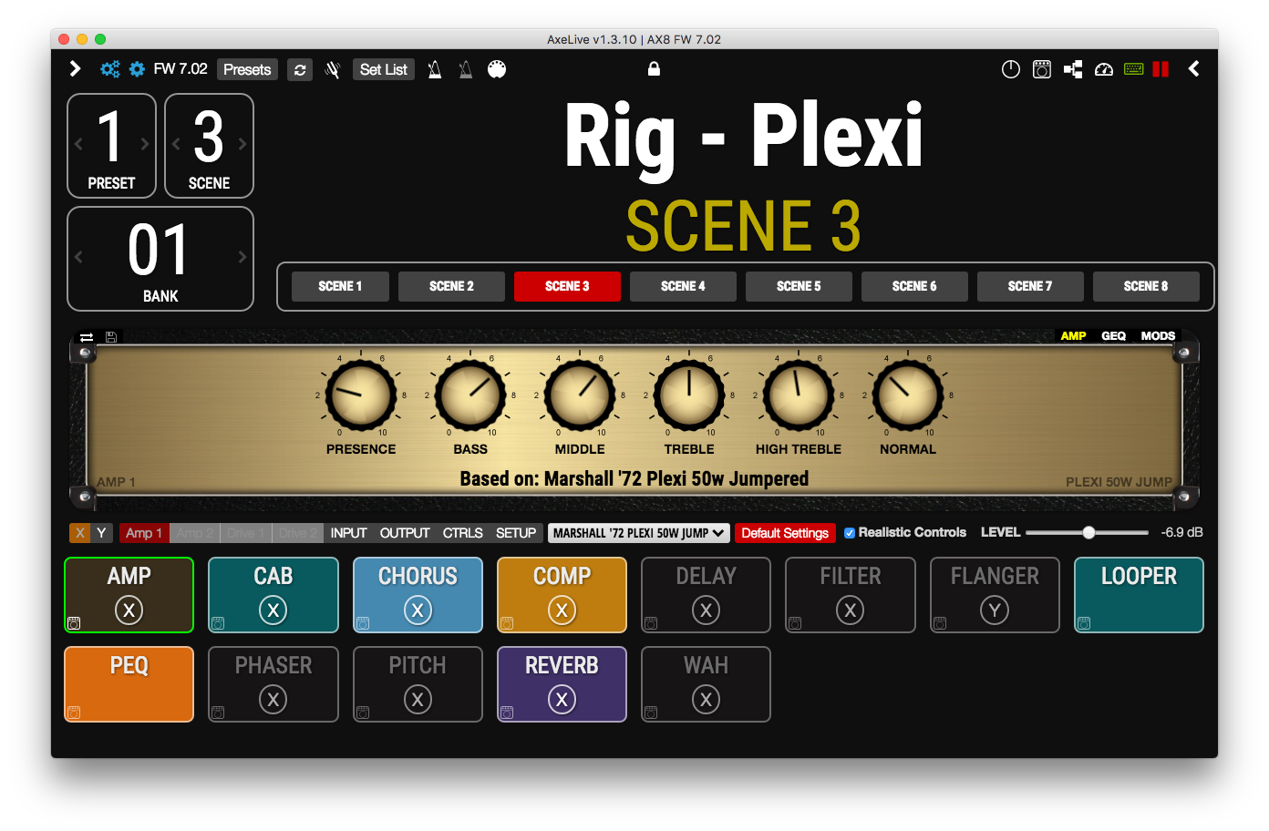 AxeLive | Live tool AX8 and Axe FX II | RoxXxtar Productions