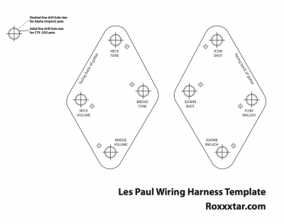 les paul printable wiring harness template roxxxtar productions rh roxxxtar com Wire Harness Assembly Medical Images of Wire Harness
